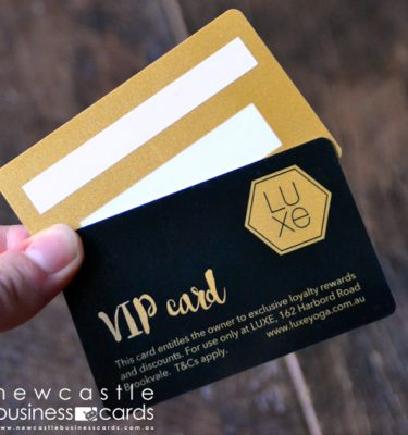 Gold Metallic Plastic Card Printing