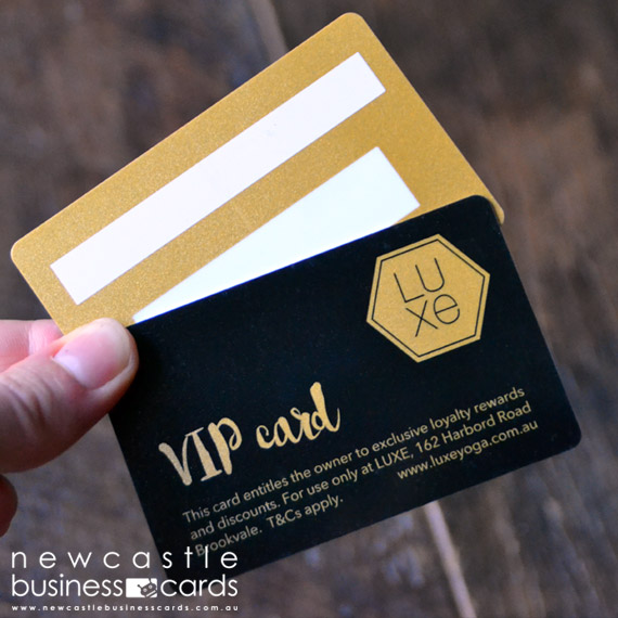 Gold Metallic Plastic Card Printing