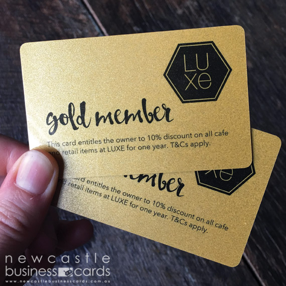 Gold Plastic Metallic Card