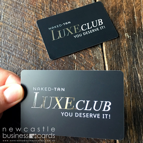 Plastic cards printing plastic business cards newcastle business matt plastic cards with silver foil stamp plastic card printing reheart